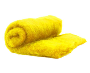 NZ Perendale Wool Carded Batt - Buttercup-7 oz