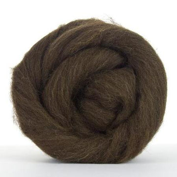Corriedale Natural Dark Brown-Wool Top