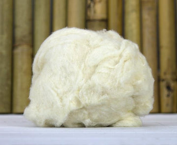 Tussah Silk Noil - Bleached