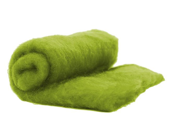 NZ Perendale Wool Carded Batt - Lichen-7 oz