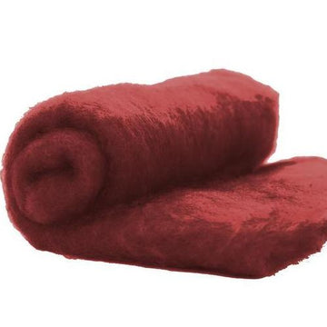 NZ Perendale Wool Carded Batt - Loganberry-7 oz