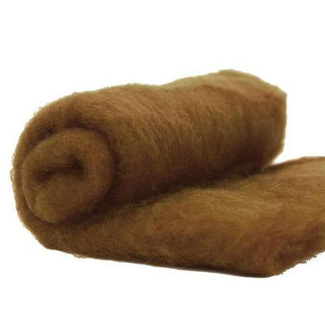 NZ Perendale Wool Carded Batt - Sienna-7 oz