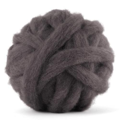 Corriedale Bulky Wool Roving-Pewter