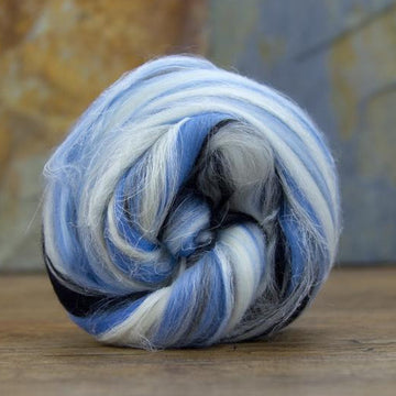 Pisces - Merino and Bleached Flax Roving/Combed Top