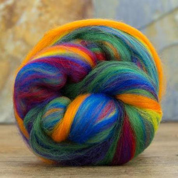 Multi-Colored Merino Top - Rainbow