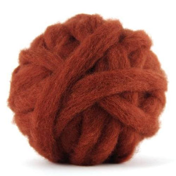 Corriedale Bulky Wool Roving-Rust