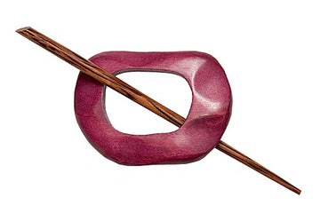 Berry Wood Shawl Pin