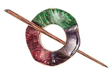 Green/Purple/Red Combo Shawl Pin