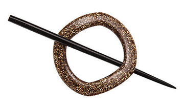 Gold Glitter Shawl Pin