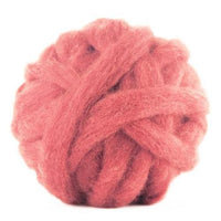 Corriedale Bulky Wool Roving-Salmon