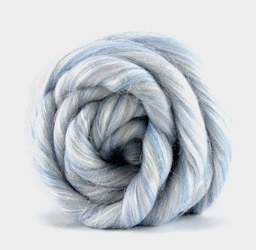Snow Globe Merino and Sparkle Roving Top