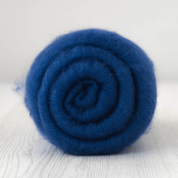 Beautiful Deep Blue Superfine Merino Carded Batt