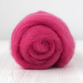 Superfine Merino Carded Batt-Raspberry
