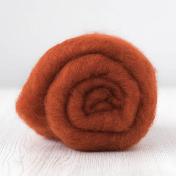Superfine Merino Carded Batt-Rust