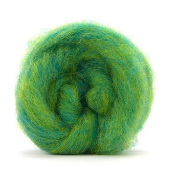 Corriedale Bulky Wool Roving-Lemon Lime
