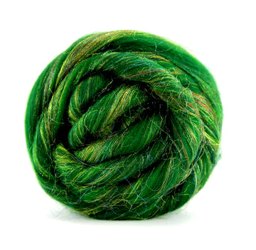 Tannenbaum Merino and Sparkle Roving Top