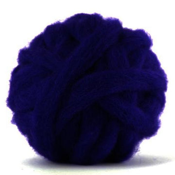 Corriedale Bulky Wool Roving-Tanzanite