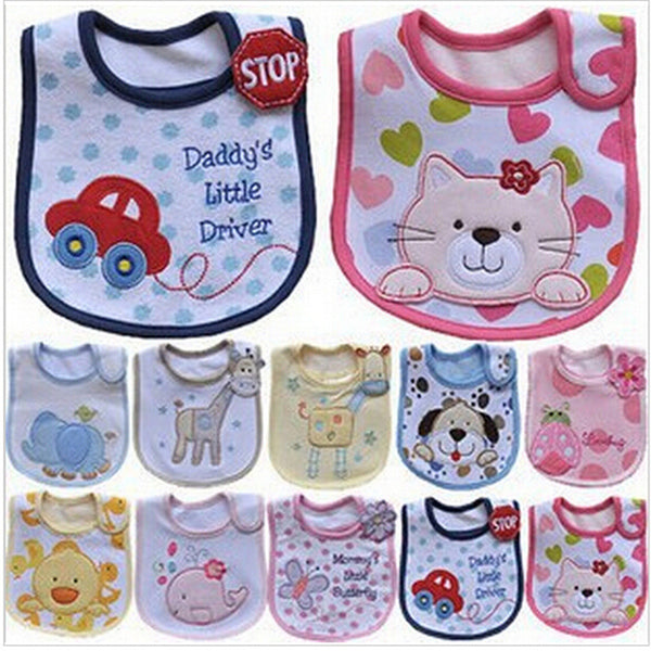 Cartoon Pattern Waterproof Bid/Burp Cloth