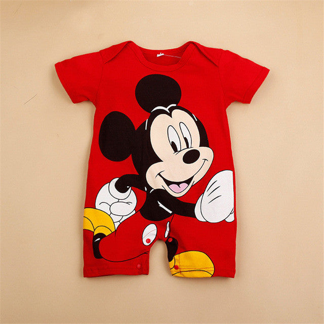 Mouse Short Sleeve Character Jumpsuits