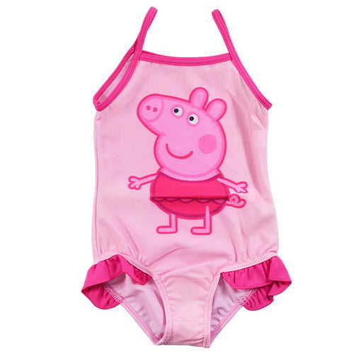 Cute Baby Kid Girls' Summer One-Piece Swimwear with Cartoon Pink Pig Pattern Bathing Suit Bikini Swimsuit  for 2~6 Years