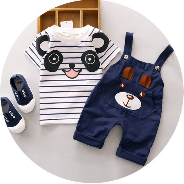 2016 New Summer Children Sets baby boy clothes for 1 2 3 4 years old boys clothing set A234