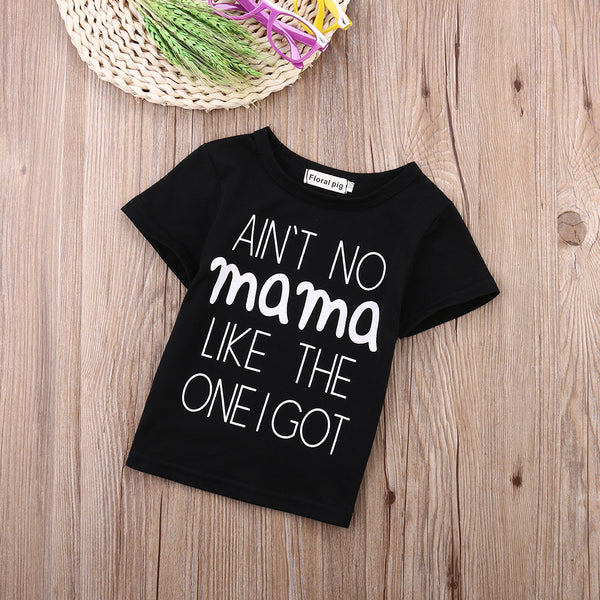 Cute Infants Baby Boys Girls Kid Clothes Summer T-shirt Sweatshirt Outfits 0-24M