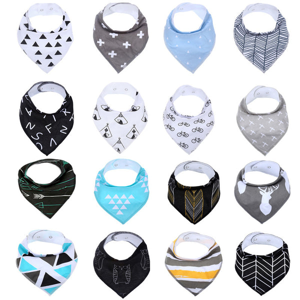 Bandana Drool Bibs for Drooling and Teething 4 Pack