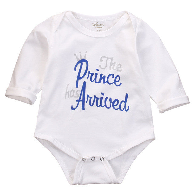 2016 Newborn Kids Clothes Baby Girl Boy Letter Long Sleeve Bodysuit Jumpsuit Playsuit Outfit