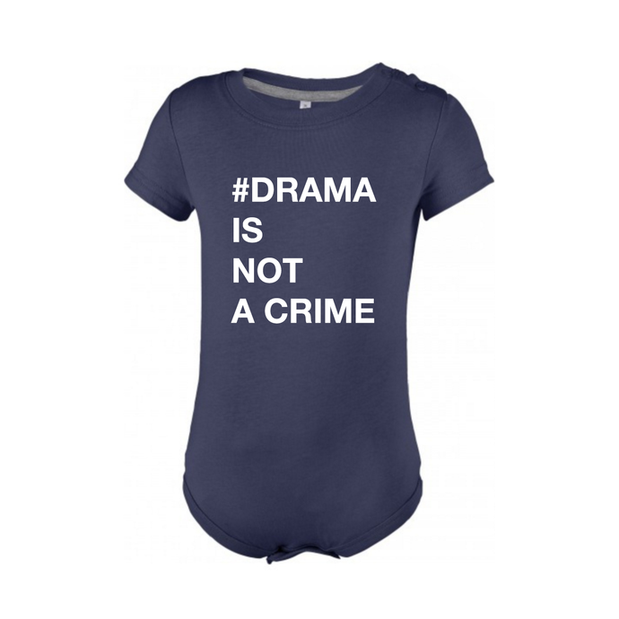 BABYBODY - #DRAMA IS NOT A CRIME - Short Sleeves - Navy Blue