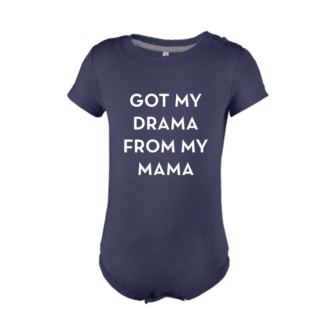 BABYBODY - GOT MY DRAMA FROM MY MAMA - Short Sleeves - Navy Blue