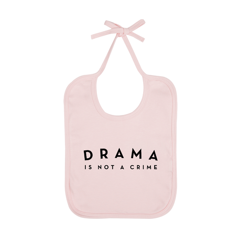 BABY BIB - DRAMA IS NOT A CRIME - Pink