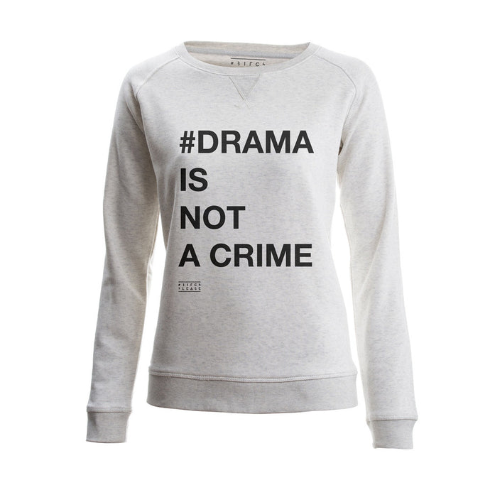 SWEATER - #DRAMA IS NOT A CRIME - long sleeves - Cream