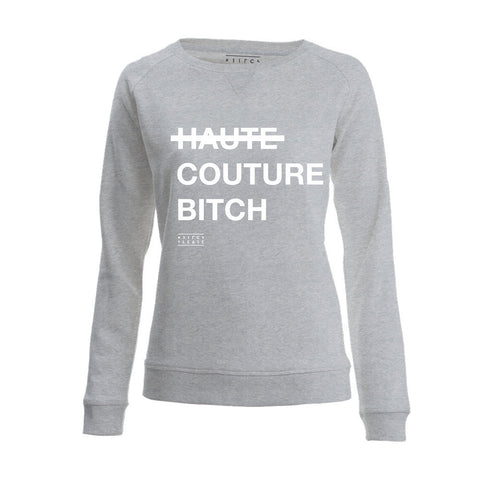 SWEATER - HAUTE COUTURE - long sleeves - Light Grey