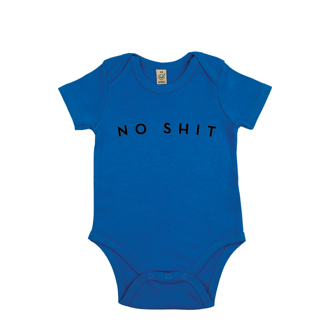 BABY BODY - NO SHIT - Short Sleeves - Bright Blue