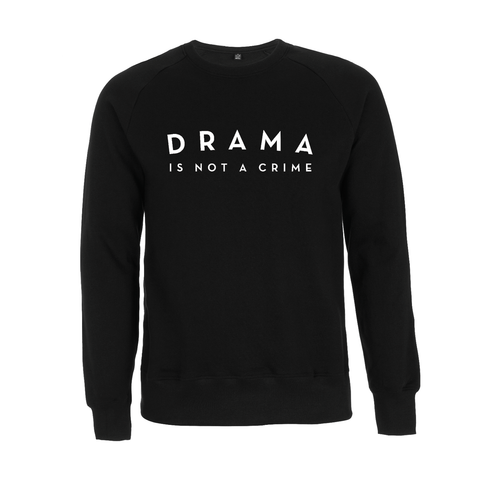 SWEATER - DRAMA IS NOT A CRIME - long sleeves - Black