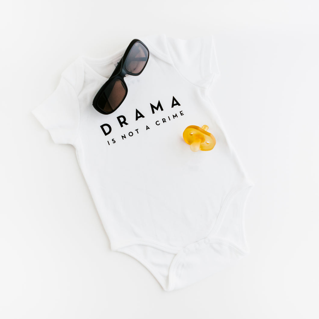 BABY BODY - DRAMA IS NOT A CRIME - Short Sleeves - White