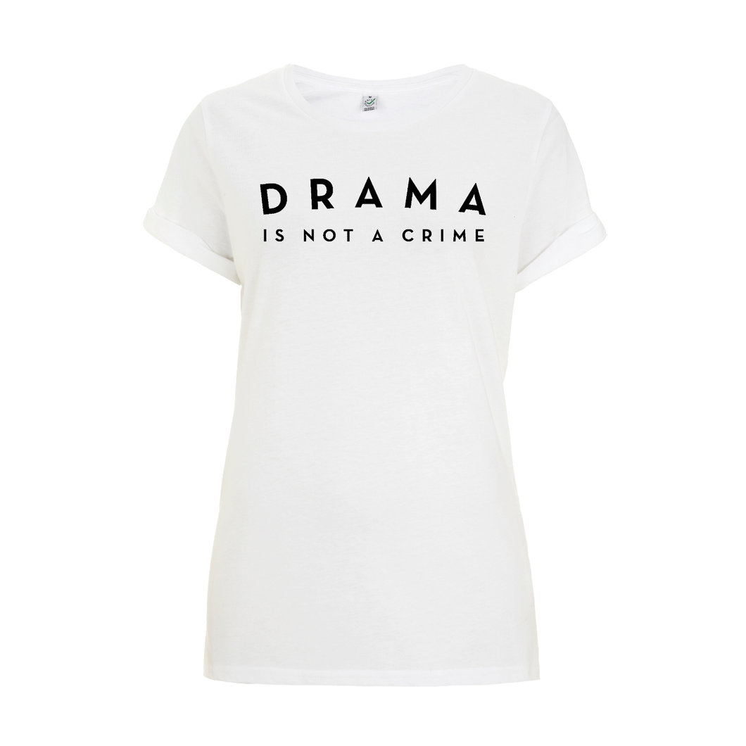T-SHIRT - DRAMA IS NOT A CRIME - Short Sleeves - White