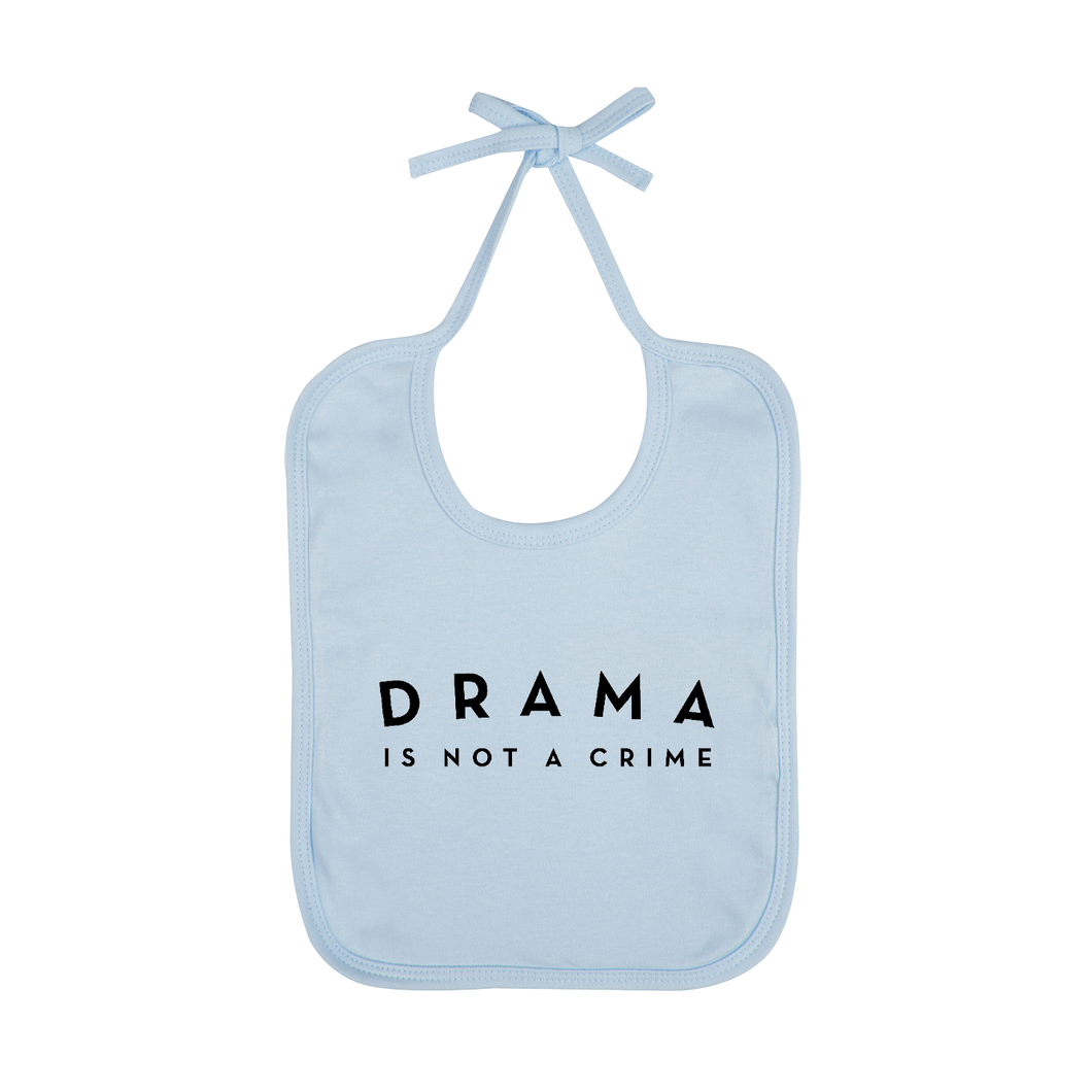BABY BIB - DRAMA IS NOT A CRIME - Light Blue