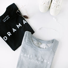 SWEATER - MAKE DRAMA NOT WAR - long sleeves - Grey