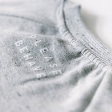 SWEATER - PLEASE BEHAVE - long sleeves - Grey