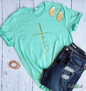 Faith Tee- Mint