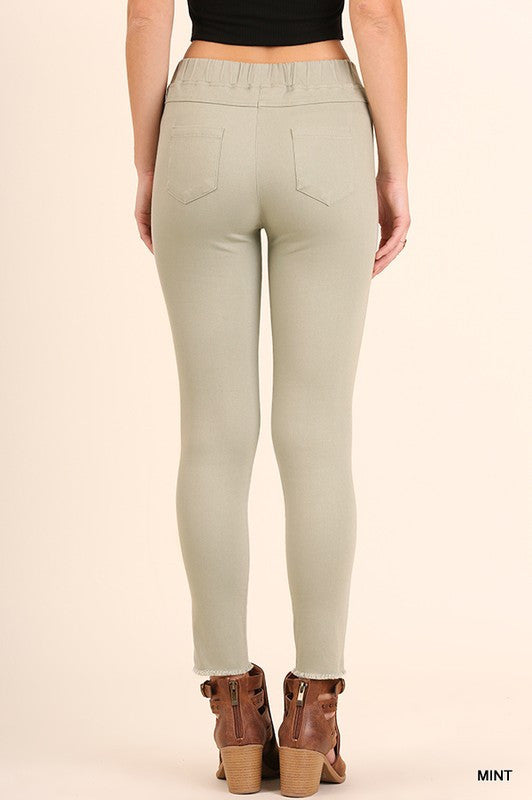 Knee-Cut Jeggings