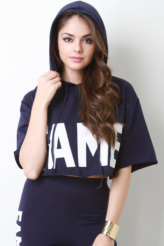 Fame Hoodie Boxy Crop Top