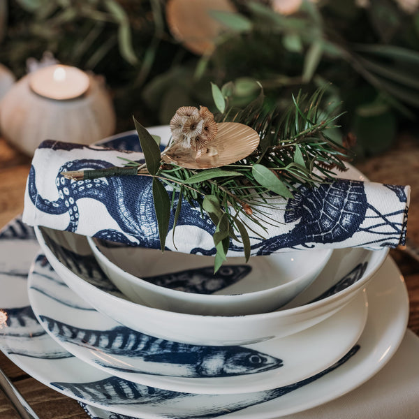 napkin ring with scallop shell