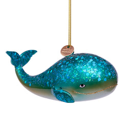 Glass Blue Giant Whale -Accessories- Cream Cornwall