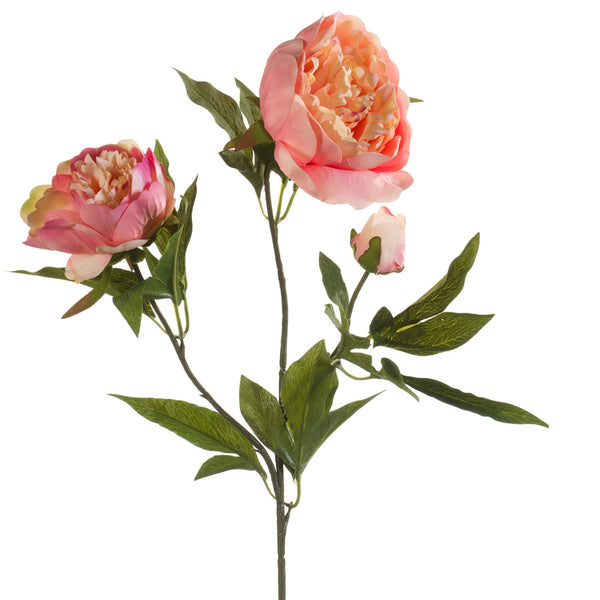 Peachy Pink Peony Spray -Accessories- Cream Cornwall
