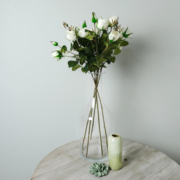 White Spray Roses -Accessories- Cream Cornwall
