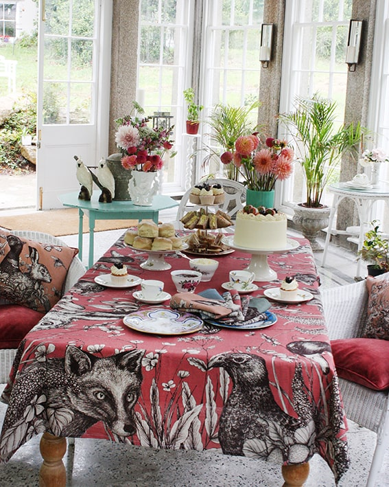 Trenwith Tablecloth -Kitchen & Dining- Cream Cornwall