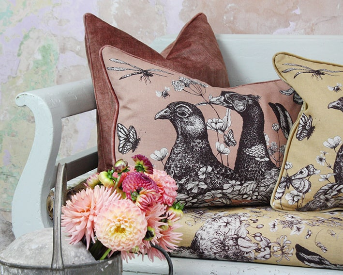 Game Trio Cushion Cover -Trenwith -Homeware- Cream Cornwall