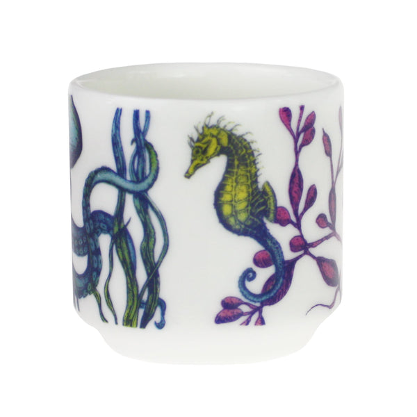 Bone China Reef Egg Cup - Jellyfish -Kitchen & Dining- Cream Cornwall